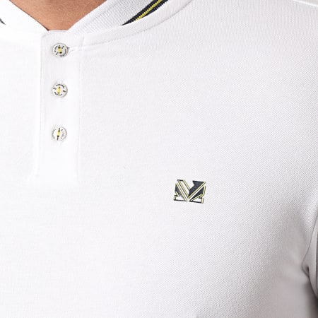 MZ72 - Polo Manches Courtes Plommer Blanc