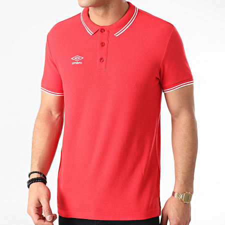 Umbro - Polo Manches Courtes Net Rouge