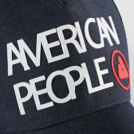 American People - Casquette Trucker Tage Bleu Marine