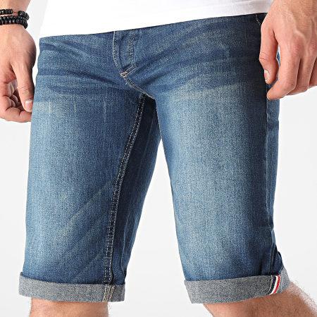MZ72 - Short Jean Footing Bleu Denim