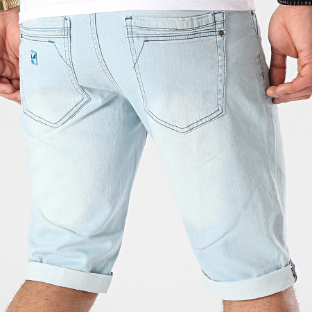 MZ72 - Short Jean Footing Bleu Wash