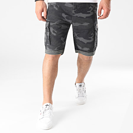 MZ72 - Short Cargo Camouflage Fresh Army Gris Anthracite