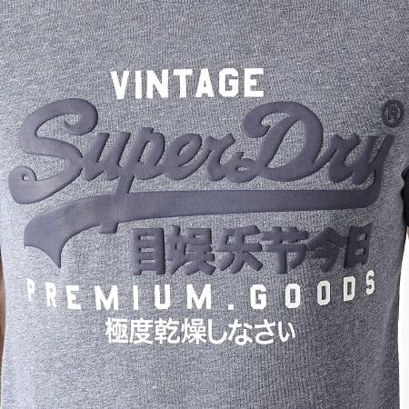 Superdry - Tee Shirt M1010411A Bleu Clair Chiné
