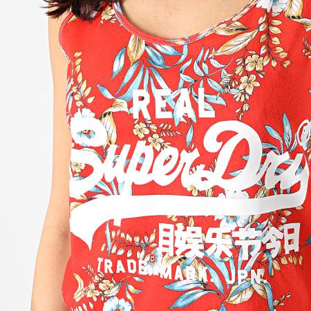 Superdry - Débardeur Femme All Over Print Orange