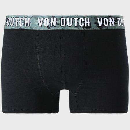 Von Dutch - Lot De 2 Boxers Basic Noir Camo Vert Kaki