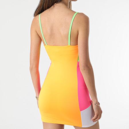 Ellesse - Robe Débardeur Femme Transparente SGF09263 Orange Fluo