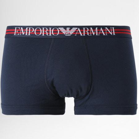 Emporio Armani - Lot De 3 Boxers 111357-1P723 Rouge Blanc Bleu Marine