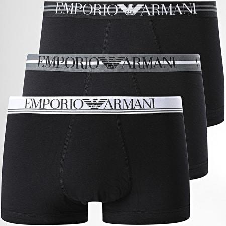 Emporio Armani - Lot De 3 Boxers 111357-1P723 Noir