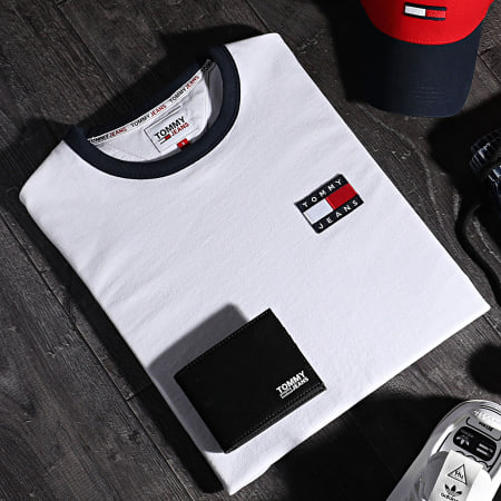 Tommy Jeans - Tee Shirt Badge Ringer 0280 Ecru