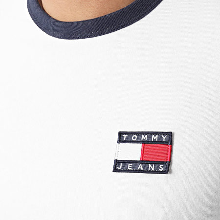 Tommy Jeans - Tee Shirt Badge Ringer 0280 Blanc