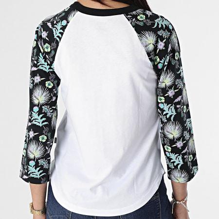 Vans - Tee Shirt Manches Longues Femme Califas Blanc Floral