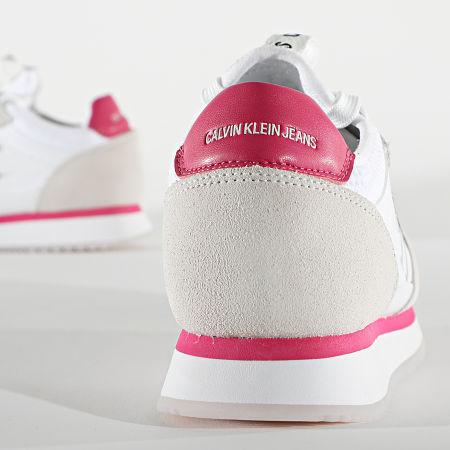 Calvin Klein - Baskets Femme Runner Sock Lace Up 0075 Bright White