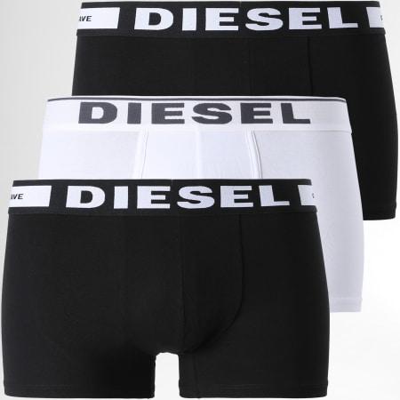 Diesel - Lot De 3 Boxers Damien 00ST3V-0JKKB Noir Blanc