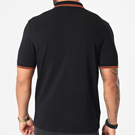 Fred Perry - Polo Manches Courtes Twin Tipped M3600 Noir Orange