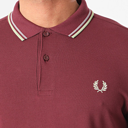 Fred Perry - Polo Manches Courtes Twin Tipped M3600 Violet