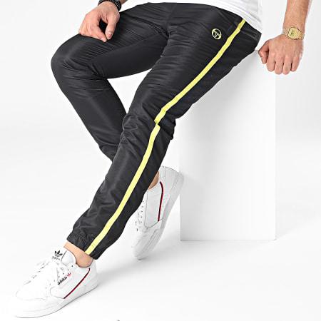 Sergio Tacchini - Pantalon Jogging A Bandes Alabama 39020 Noir Jaune