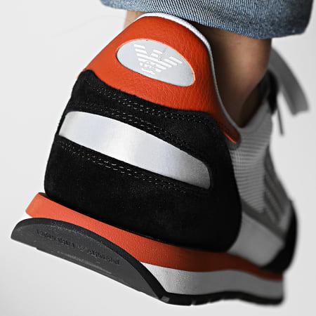 Emporio Armani - Baskets X4X537-XM678 Black Optical White Orange Silver