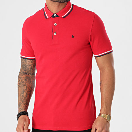 Jack And Jones - Polo Manches Courtes Paulos Rouge