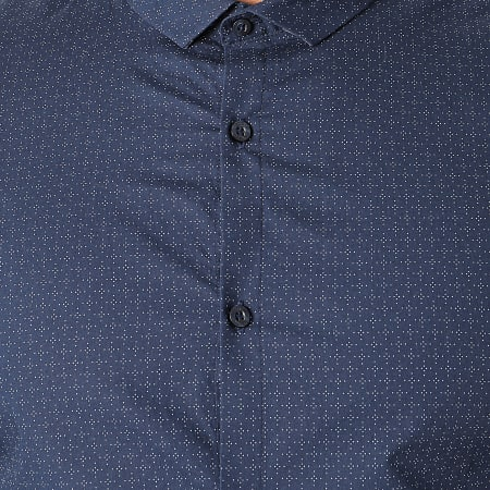 Teddy Smith - Chemise Manches Longues Caster Bleu Marine