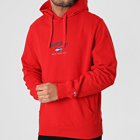 Tommy Jeans - Sweat Capuche Timeless Tommy 0208 Rouge