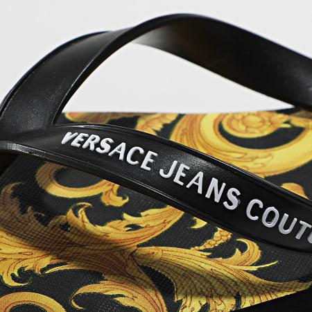 Versace Jeans Couture - Tongs Femme Linea Fondo Flip Flop E0VWASQ7 Noir Renaissance