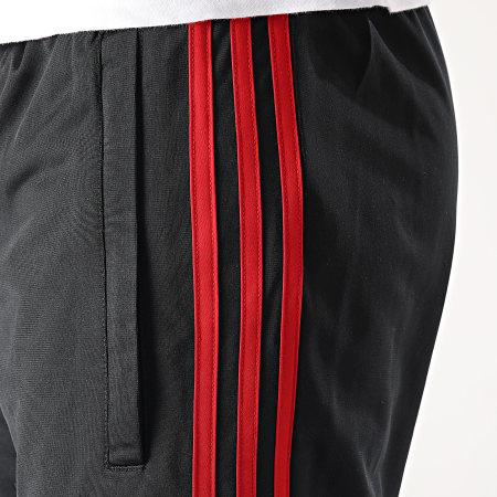 adidas - Pantalon Jogging A Bandes GN3854 Noir Rouge