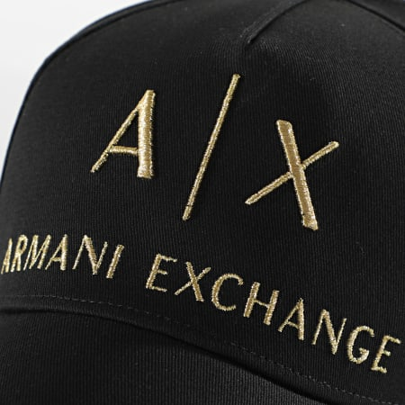 Armani Exchange - Casquette 954039 Noir Or