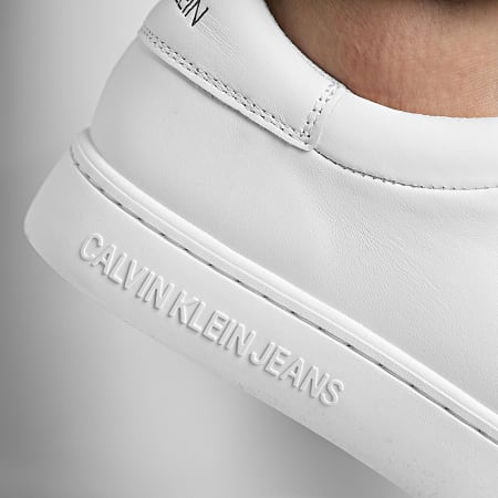 Calvin Klein Jeans - Baskets Cupsole Lace Up Leather 0084 White