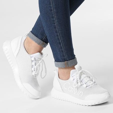 Calvin Klein Jeans - Baskets Femme Runner Lace Up Mesh 0165 Bright White