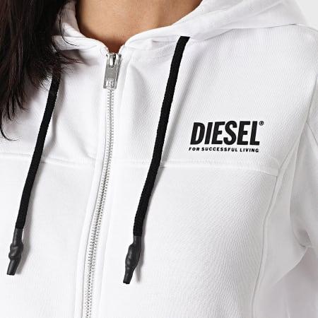 Diesel - Sweat Zippé Capuche Femme Victorial A00982-0PAZF Blanc
