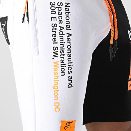 Final Club x NASA - Short Jogging Half Limited Edition Noir Blanc Détails Orange Fluo