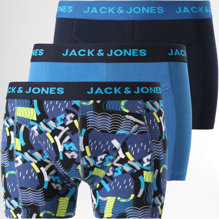 Jack And Jones - Lot De 3 Boxers Blueish 12192801 Bleu Marine