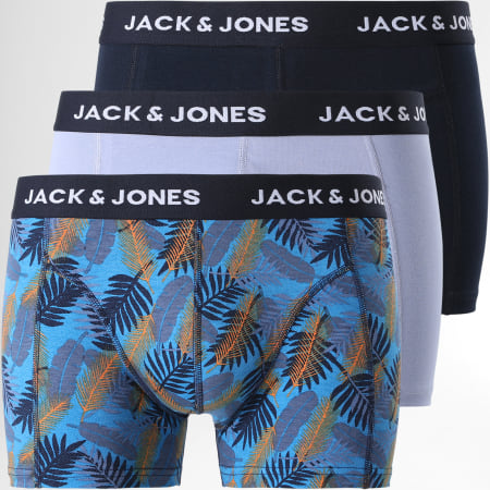 Jack And Jones - Lot De 3 Boxers Leaf Blue 12192799 Bleu Marine