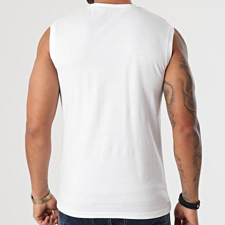 Kappa - Tee Shirt Sans Manches Ibran 31196WW Blanc