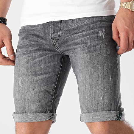 Tiffosi - Short Jean Slim 10 Gris Anthracite