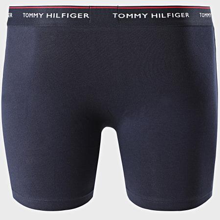 Tommy Hilfiger - Lot De 3 Boxers Premium Essentials 0010 Rouge Bleu