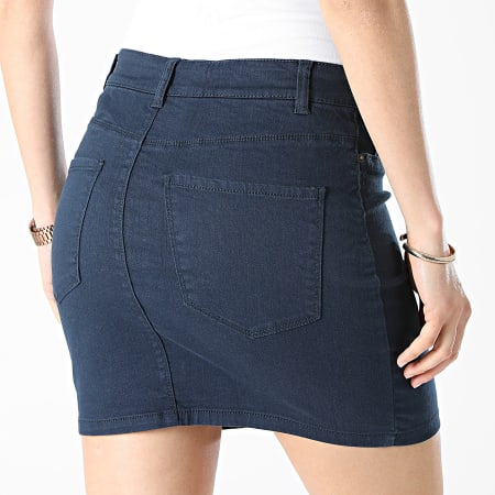 Vero Moda - Jupe Jean Femme Hot Seven Bleu Marine