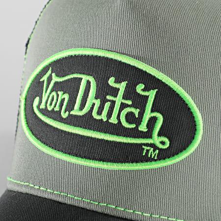 Von Dutch - Casquette Trucker Summer Gris Vert Fluo