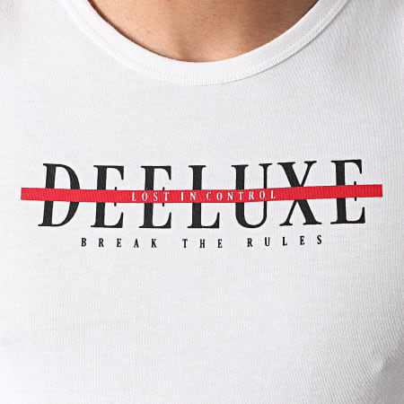 Deeluxe - Débardeur A Bandes Half DB Blanc