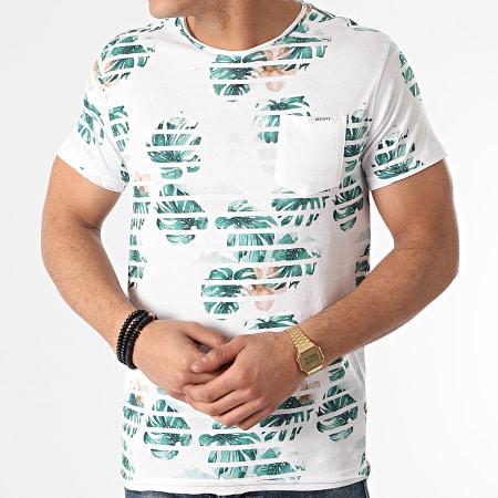 Deeluxe - Tee Shirt Poche Floral Zonia Blanc