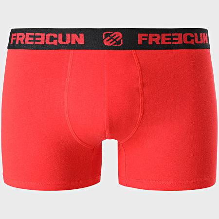 Freegun - Lot De 4 Boxers Ultra Stretch Noir Bleu Marine Rouge