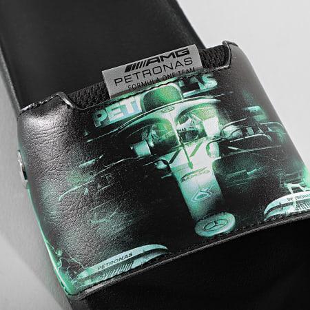 Puma - Claquettes Graphic Leadcat FTR 368581 Mercedes AMG Puma Black Spectra Green