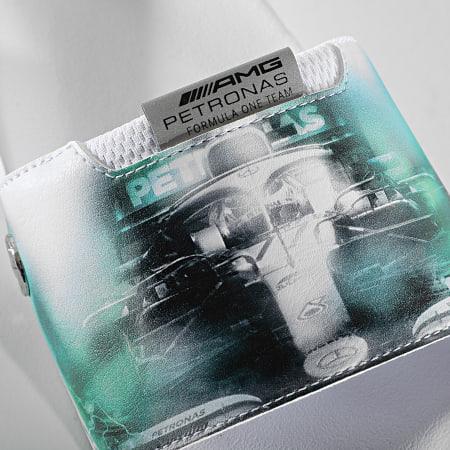 Puma - Claquettes Graphic Leadcat FTR 368581 Mercedes AMG Puma White Spectra Green