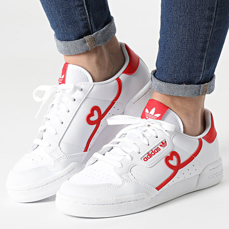 adidas - Baskets Femme Continental 80 FY2578 Footwear White Vived Red