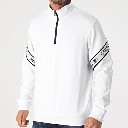 Calvin Klein - Sweat Col Zippé PW GMS1W332 Blanc