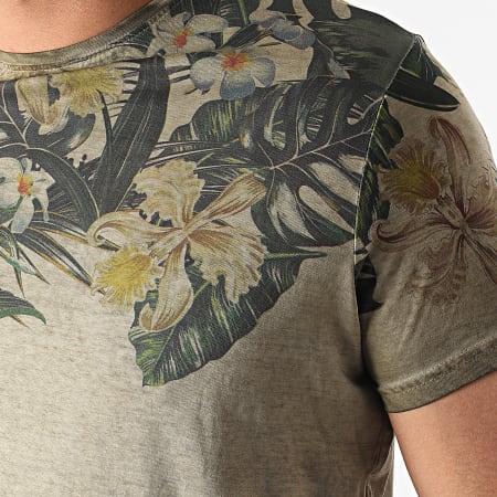 La Maison Blaggio - Tee Shirt Floral Murol Vert Kaki