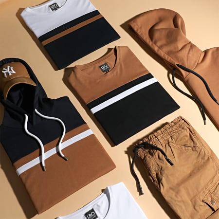 LBO - Ensemble Tee Shirt Et Short 1561 Noir Blanc Camel