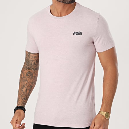 Superdry - Tee Shirt OL Vintage Embroidery M1010882A Rose Chiné
