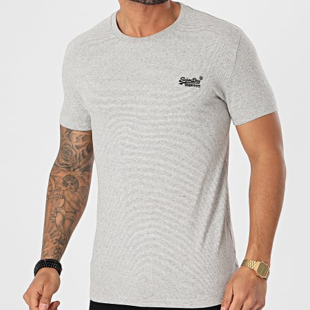 Superdry - Tee Shirt OL Vintage Embroidery M1010882A Gris Chiné
