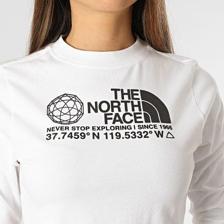 The North Face - Tee Shirt Manches Longues Crop Femme Coordinates A55UZFN4 Blanc
